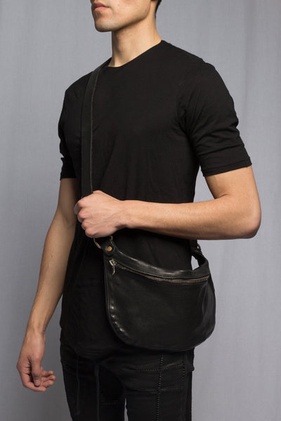 Black Soft Horse Small Bag Q10