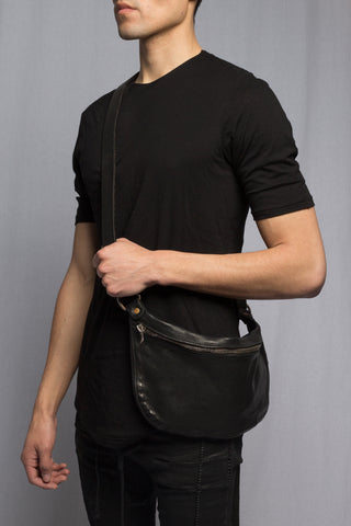 Black Soft Horse Small Bag Q10 - GUIDI 1896