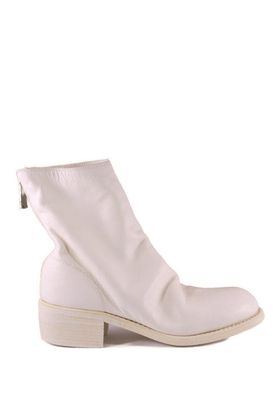 White Back Zip Boots 796