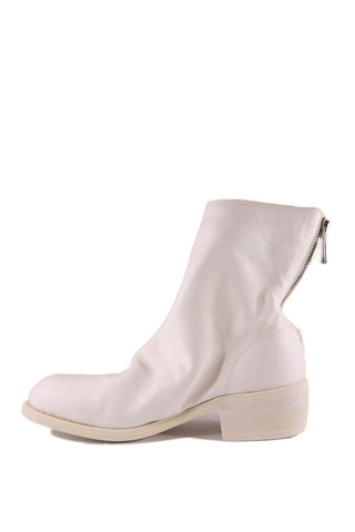 White Back Zip Boots 796 - GUIDI 1896