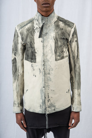 Light Grey Microcoated Reversible Leather J1 - Boris Bidjan Saberi