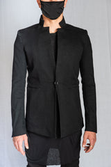 Boris Bidjan Saberi - Black Resin Dyed Stretch Cotton SUIT1