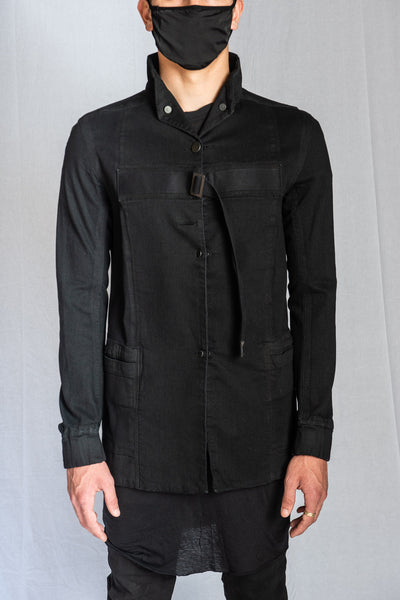 Black Reversible Stretch Cotton WORKJACKET 3