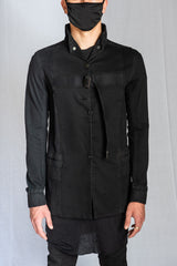 Boris Bidjan Saberi - Black Reversible Stretch Cotton WORKJACKET 3
