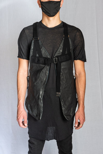 Black Vegetable Tan Horse Leather VEST BAG 2