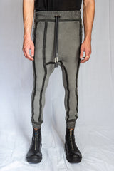 Boris Bidjan Saberi - Faded Dark Grey Taped Seams LONGJOHN 2