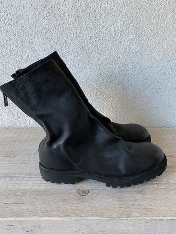 Black Back Zip Boots Vibram 788V - GUIDI 1896