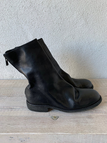 Black Soft Horse Back Zip Boots 988 - GUIDI 1896