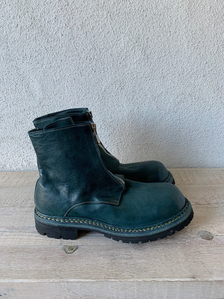 Teal Blue Big Daddy Front Zip Boots Vibram GR05FRV