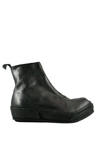 Black Front Zip Sneaker Boots PLS - GUIDI 1896