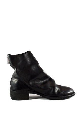 Black Back Zip Boots 796 - GUIDI 1896