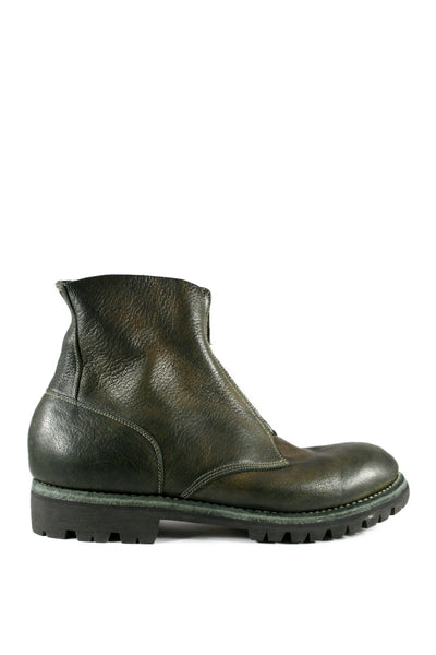 Green Military Goat Front Zip Boots 5305FZV