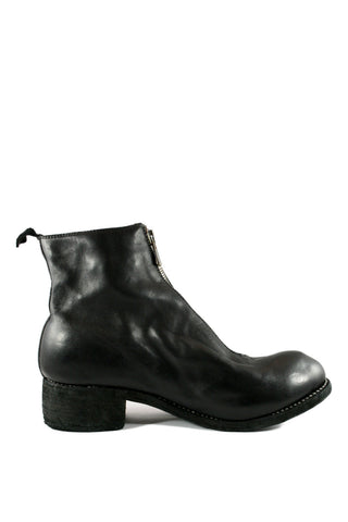 Black Front Zip Boots PL1 - GUIDI