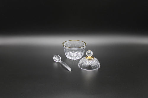 DELUXE ACRYLIC SUGAR POT W/SPOON