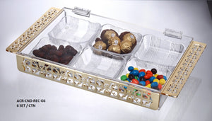 Deluxe Rectangle Acrylic Box with 6 Bowls