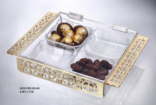 Load image into Gallery viewer, Deluxe Square Acrylic Box with 4 Bowls