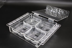 Deluxe Square Acrylic Box with 4 Bowls