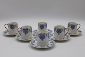 Cups & SAUCERS SET (6+6 PCs)