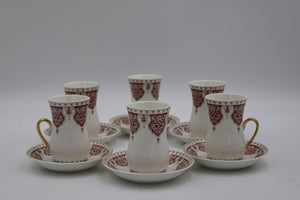 Cups & SAUCERS SET (12 Pcs)