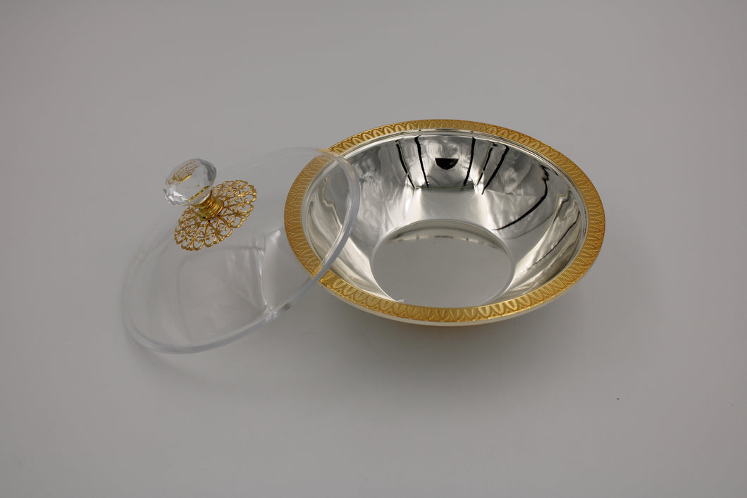 Round Silver gold plated Bowl