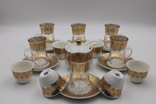 Load image into Gallery viewer, PORCELAIN AND GLASS WARE 21 PCS SET