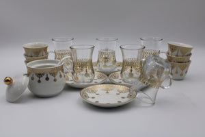 PORCELAIN GLASS CUP 21PCS SET