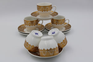 PORCELAIN COFFEE CUP (6+6 Pcs