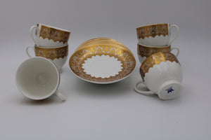 PORCELAIN CUPS Set (6+6 Pcs)