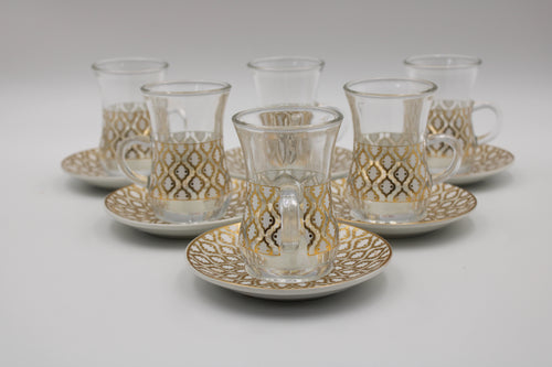 PORCELAIN AND GLASS TAE 12 PCS SET