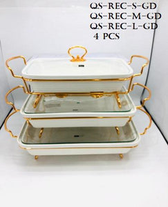 Rect. CASSEROLE WITH CANDLE STAND