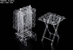 5 Pcs Square Wavy Acrylic Table Set