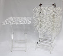 Load image into Gallery viewer, 5 Pcs Square Wavy Acrylic Table Set