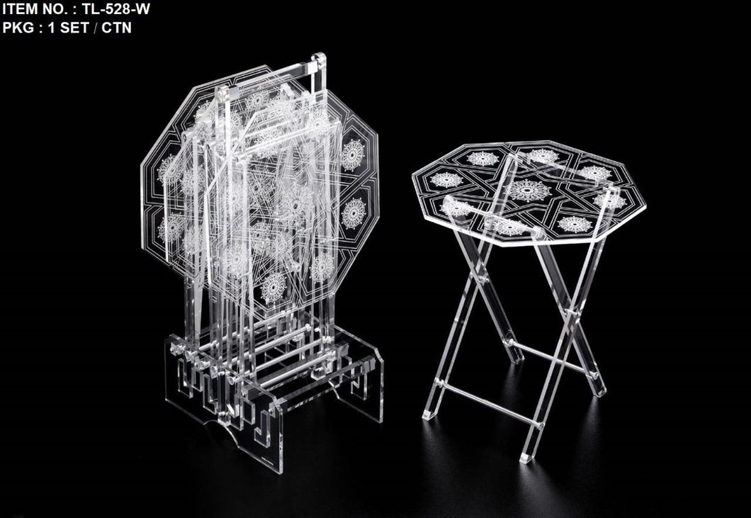 5 Pcs Octagonal Acrylic Table Set