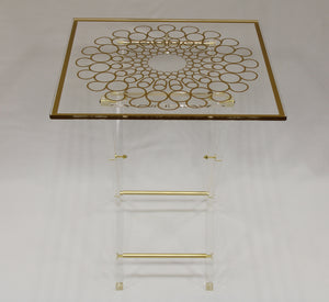 Deluxe Acrylic Table Set (4+1 Stand)