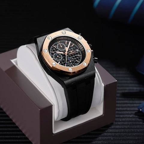 2019 ONOLA Luxury brand Fashion Sports Military Mens Watches Wristwatch clock metal Waterproof multifunctional quartz watch Men