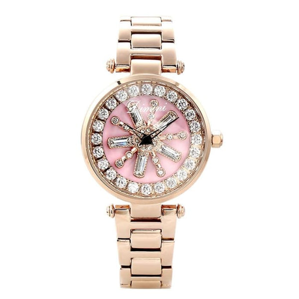 2019 Top Brand Rotation Women Rhinestone Watches Fashion Ladies Casual Dress Watch Women Elegant Luxury Quartz Watch Relogios