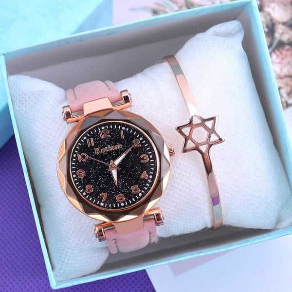 2019 Women Watches Starry Sky Clock Ladies Wrist Watch Bracelet Watches Leather Quartz Wristwatches reloj mujer relogio feminino
