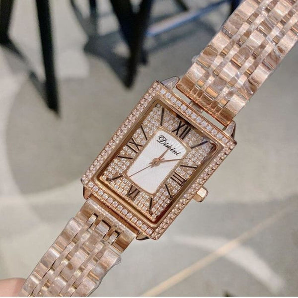 Gypsophila Diamond Women Watches Lady New Rectang Quartz Watch Women Full Stainless Steel Female Watches horloges vrouwen 2019