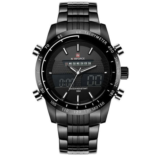 Luxury Brand NAVIFORCE Men Fashion Sport Watches Mens Quartz Digital Analog Clock Man Full Steel Wrist Watch relogio masculino