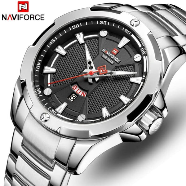 Men's Watches Top Luxury Brand NAVIFORCE Analog Watch Men Stainless Steel Waterproof Quartz Wristwatch Date Relogio Masculino
