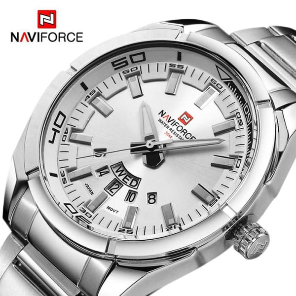 NAVIFORCE 2019 New Top Brand Men Watches Mens Full Steel Waterproof Casual Quartz Date Clock Male Wrist watch relogio masculino