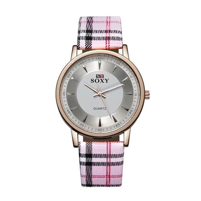 Quartz Wrist Watches Leather Band Stainless Steel Case Ladies Clock Women Gift SOXY Women Classical Brief Fashion Casual
