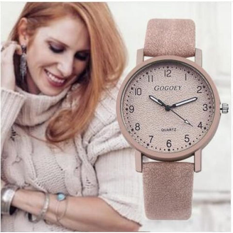 Retro Design Women Watches Leather Band Quartz Wrist Watch Top Brand Luxury Fashion Clock Saat Drop Shipping montre femme