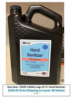 FOUR 1-Gallon Jugs GEL type Hand Sanitizer in One Box Direct from Manufacturer - Free Shipping