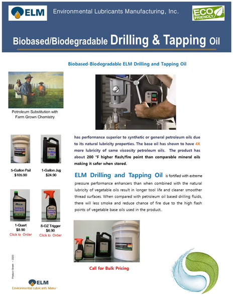 Drilling and Tapping Oil
