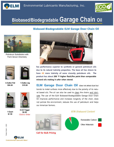 Garage Door Chain Oil