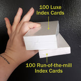 Luxe Index Cards - Loosetooth.com