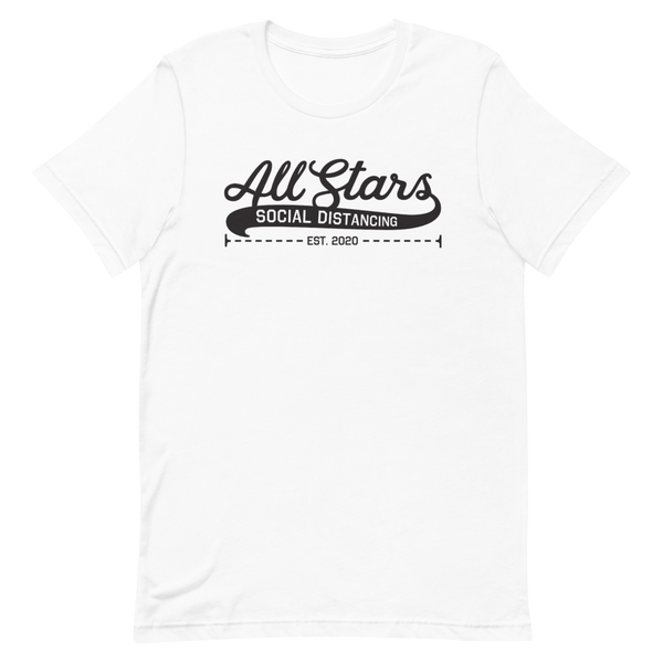 Social Distancing All-Stars | Light Colors Unisex T-Shirt - Loosetooth.com