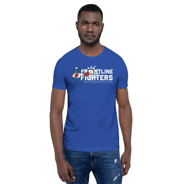 Frontline Fighters Bear | Blues and Dark Colors Unisex T-Shirt - Loosetooth.com