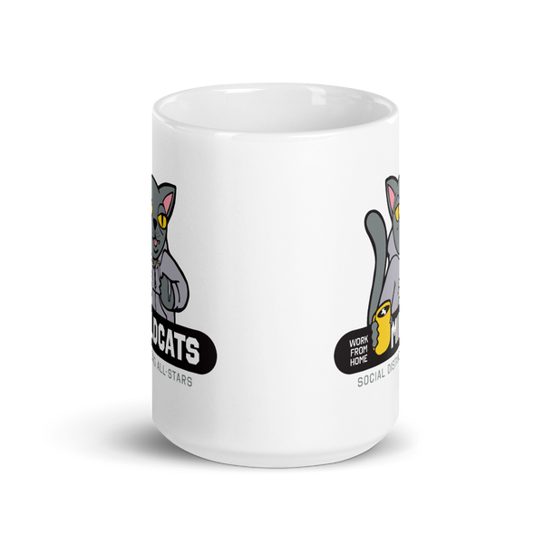 Work from Home Mildcats 15 oz. Mug - Loosetooth.com